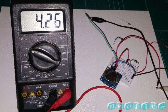 Using a multimeter to check the battery contact voltage